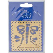 "Embossing Queen Brass Stencil 3""X3""-Dragonflies"