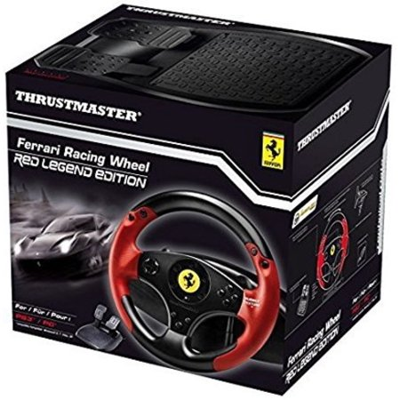 Thrustmaster - Ferrari Red Legend Edition Racing Wheel for (Best F1 Steering Wheel Ps3)