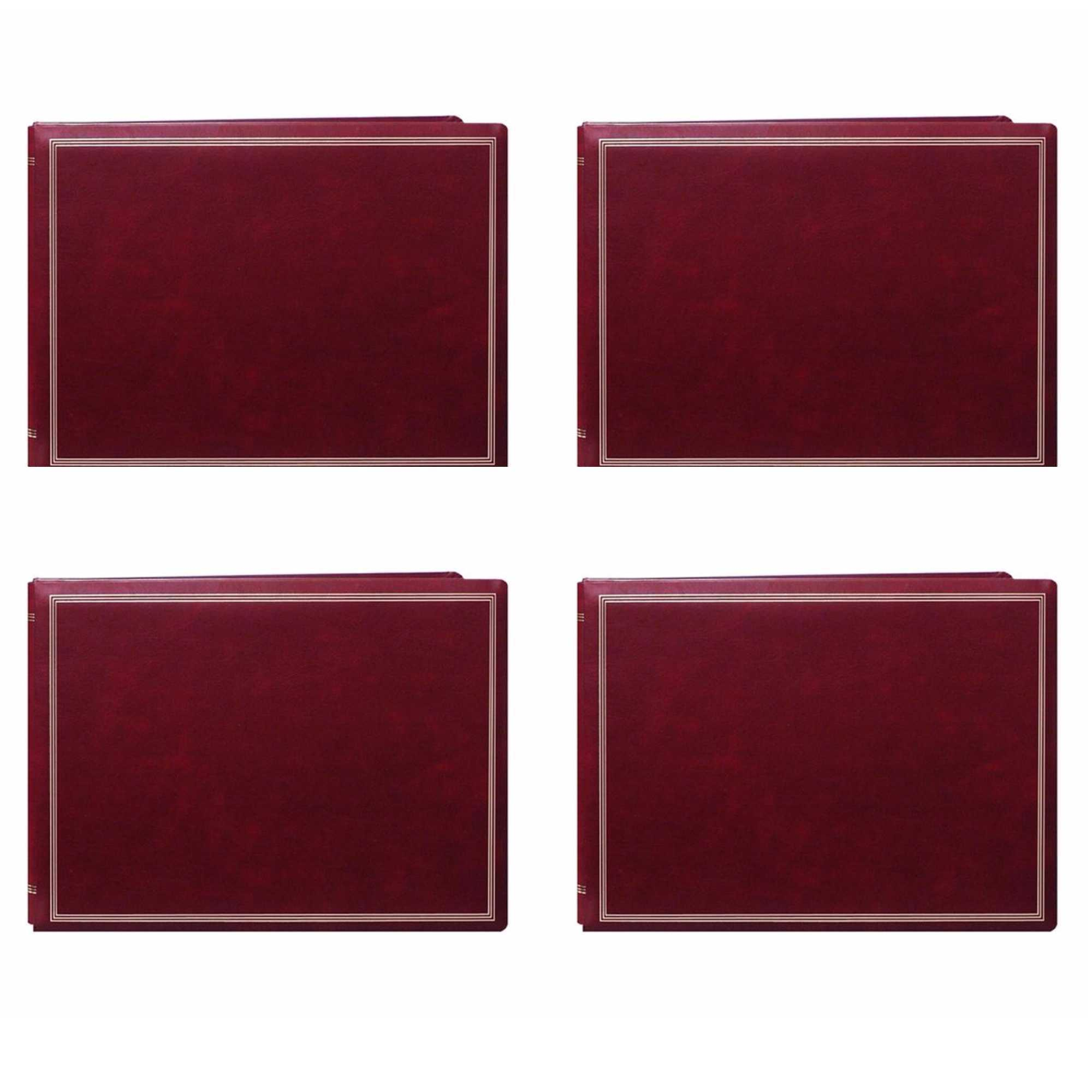 Pioneer Jumbo Magnetic Page X-Pando Photo Album (Burgundy Red) 4-Pack