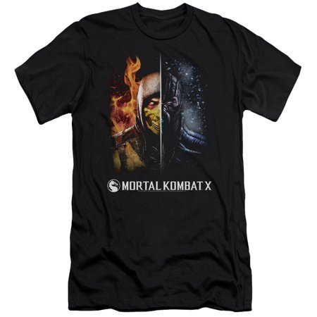 Mortal Kombat - Fire And Ice - Slim Fit Short Sleeve Shirt -