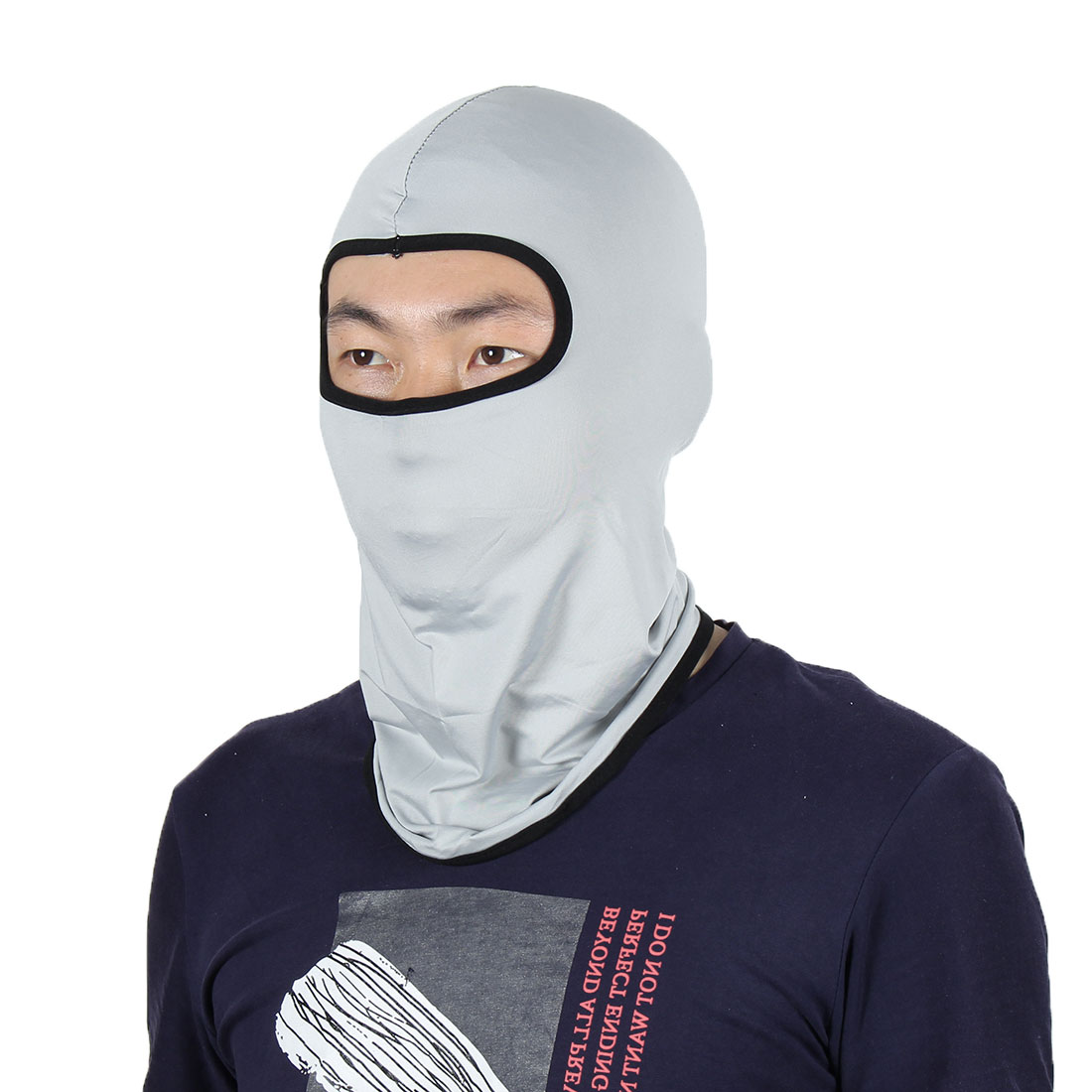 Full Face Mask Outdoor Activities Cycling Biking Neck Hat Helmet Balaclava Gray