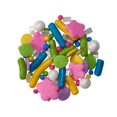 Mid Spring (Spring Colors Mix Edible Confetti Sprinkles - 2.6 oz - National Cake Supply)