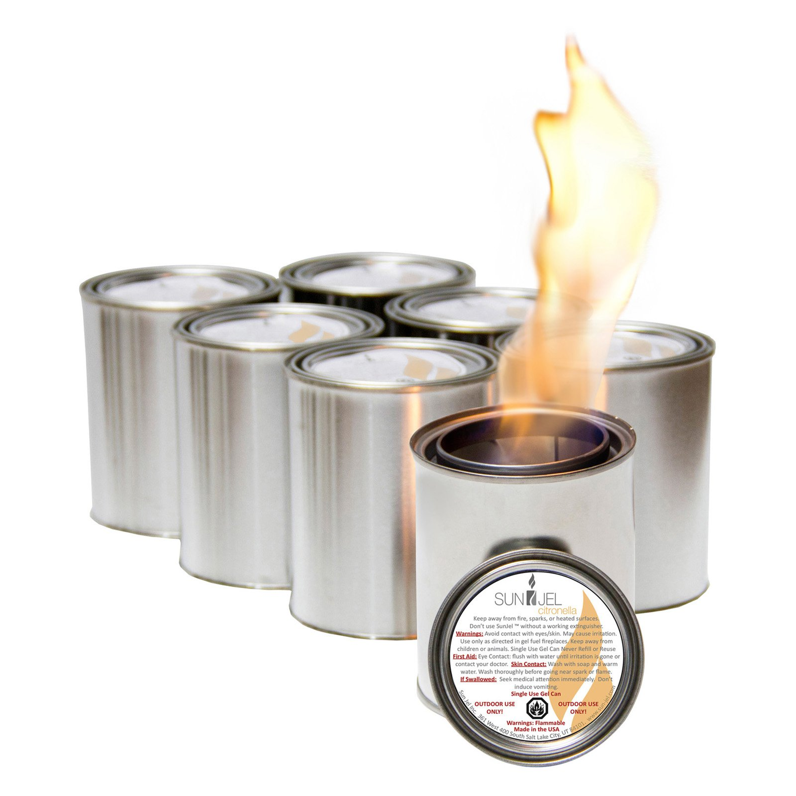 SunJel Citronella Gel Fireplace Fuel