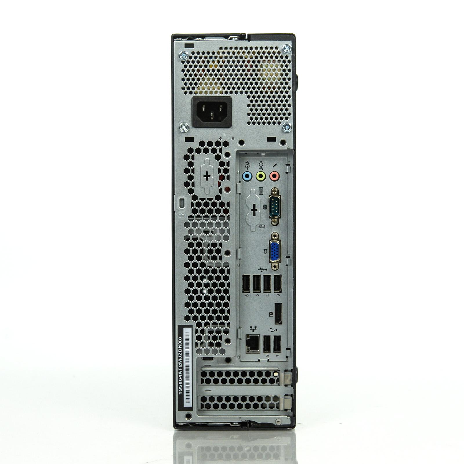 Refurbished Lenovo Thinkcentre M90p Sff I5 650 320ghz Wi Fi 4gb A328 Black 128gb Ssd Win 10 Pro 1 Yr Wty