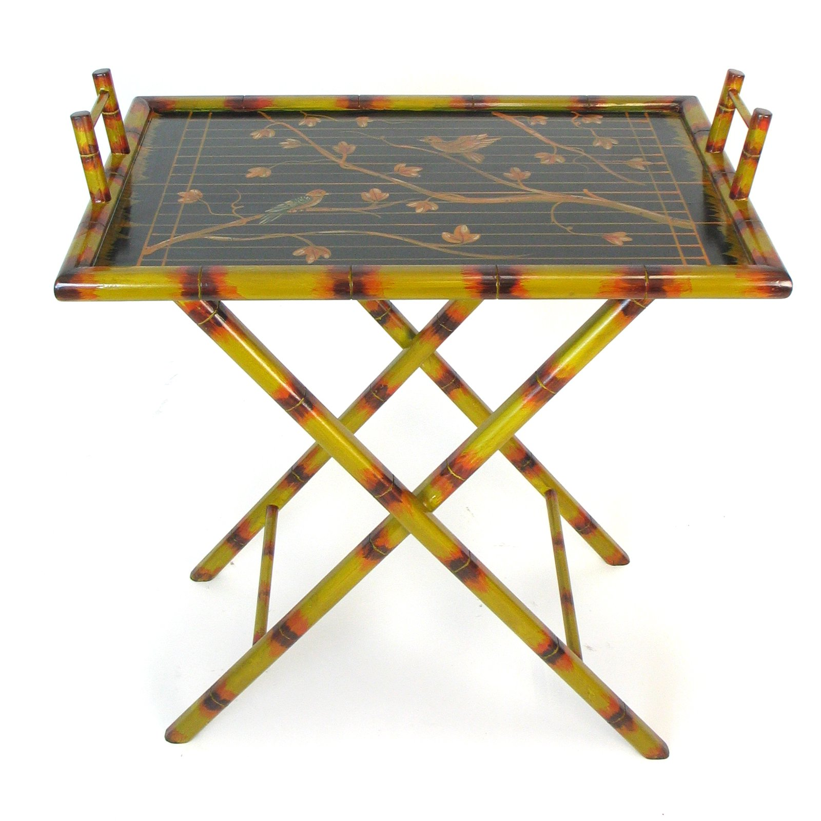 Hand Painted Serving Tray Stand