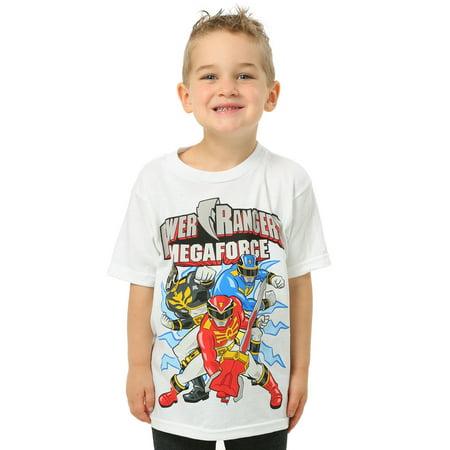 Power Rangers Megaforce White T-Shirt (Power Rangers Suits)