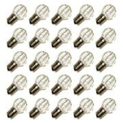 Sival 81001 - G30 Intermediate Screw Base Sun Warm White LED (25 pack) Christmas Light Bulbs