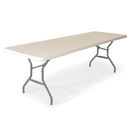 Lifetime 8 foot fold in half table for Folding table 6 x 4