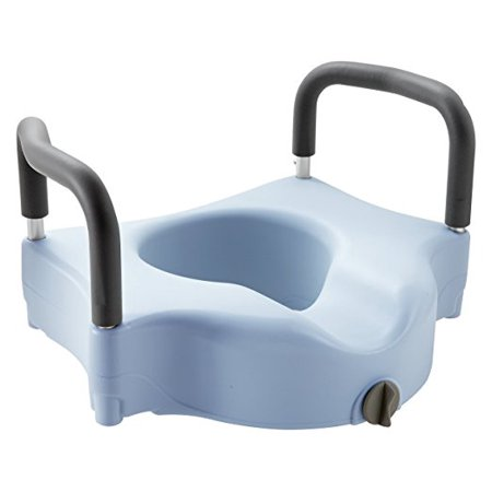 Medline Locking Elevated Toilet Seat with Microban with