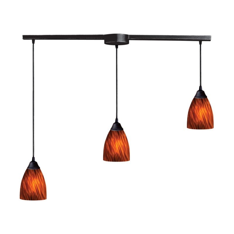 Elk Lighting 406-3L-ES Pendants , Indoor Lighting, Espresso