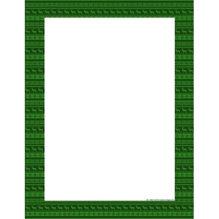 Designer Paper - Holiday Green Deer (50 Sheet Package)