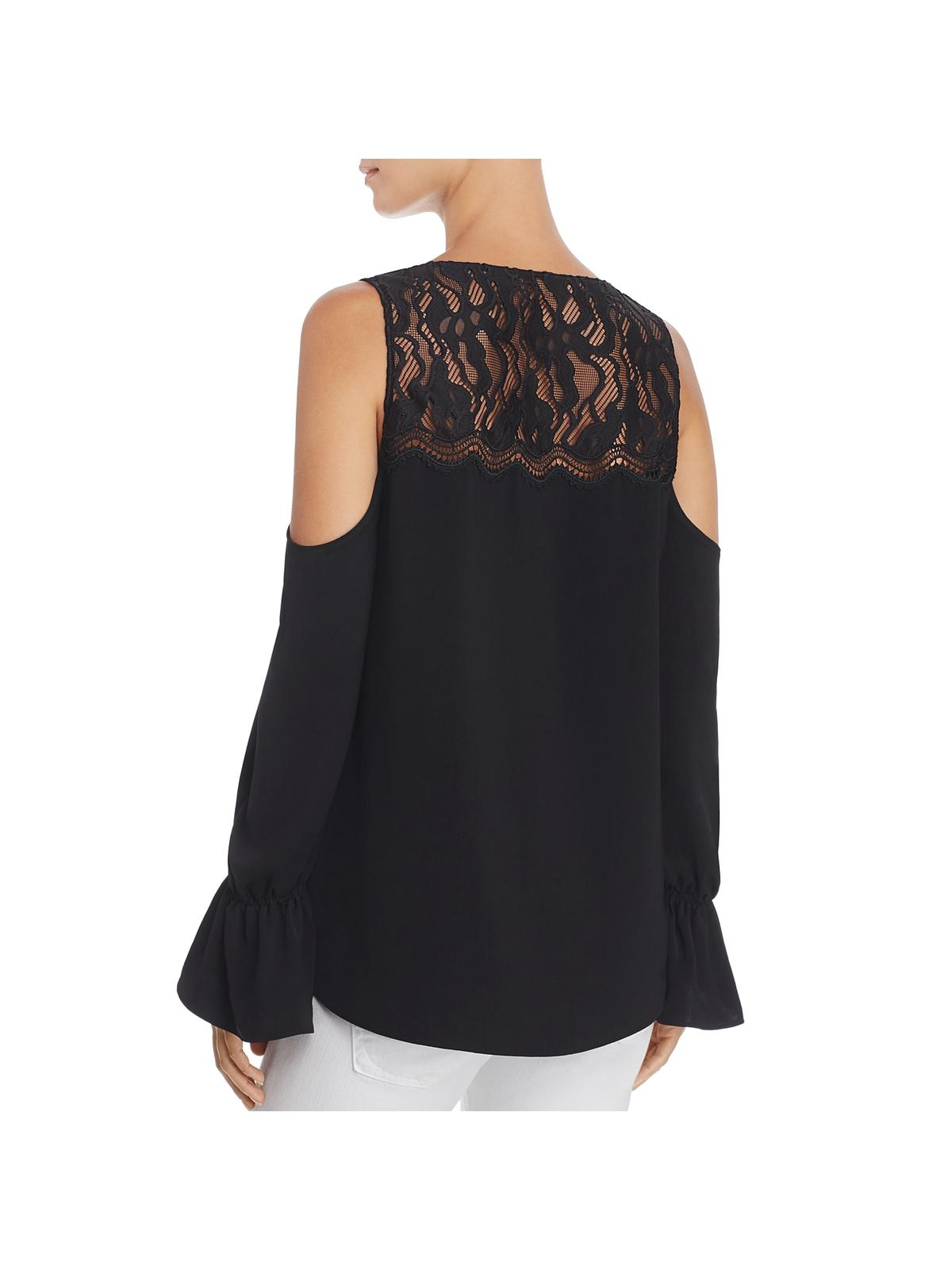 0522f02bcd4e1 Ramy Brook - Ramy Brook Womens Abigail Lace Cold Shoulder Blouse -  Walmart.com