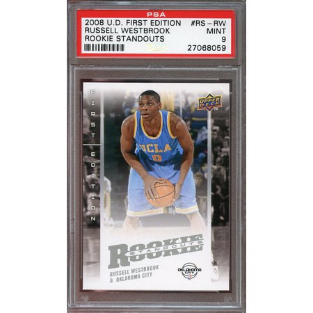 2008 09 Ud First Edition Rookie Standouts  Rs Rw Russell Westbrook Rookie Psa 9