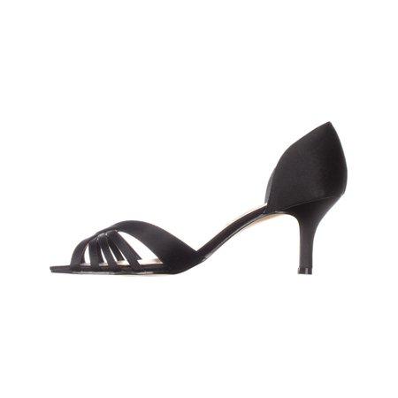 Nina Coella Open-Toe Dress Pump Heels, Black Luster - image 3 de 6