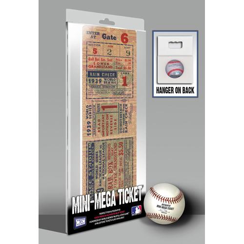 That's My Ticket 1939 MLB World Series New York Yankees Mini Mega Tickets