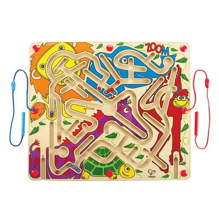 Hape Zoo'm Magnetic Wooden Maze Puzzle Activity Learning and Development Game