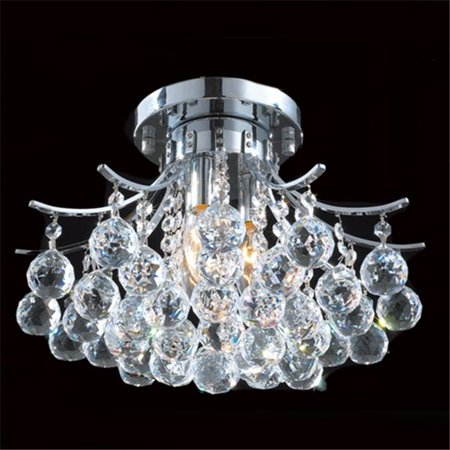 Empire Collection 3 Light Chrome Finish and Clear Crystal Flush Mount Ceiling Light 16