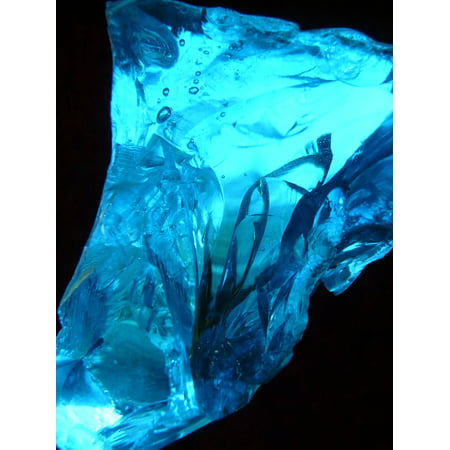 Canvas Print Color Blue Colorful Glass Stone Cold Gem Ice Stretched Canvas 10 x 14