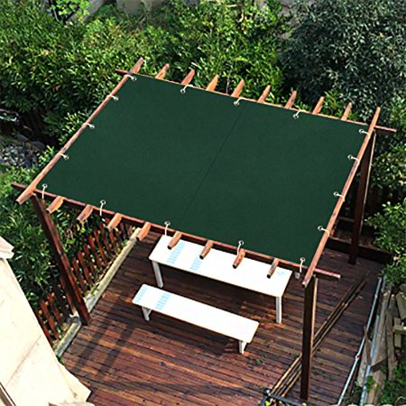 Sx 6x10ft Dark Green New Design Outdoor Waterproof Sun Shade Privacy Panel With Grommets For Patio
