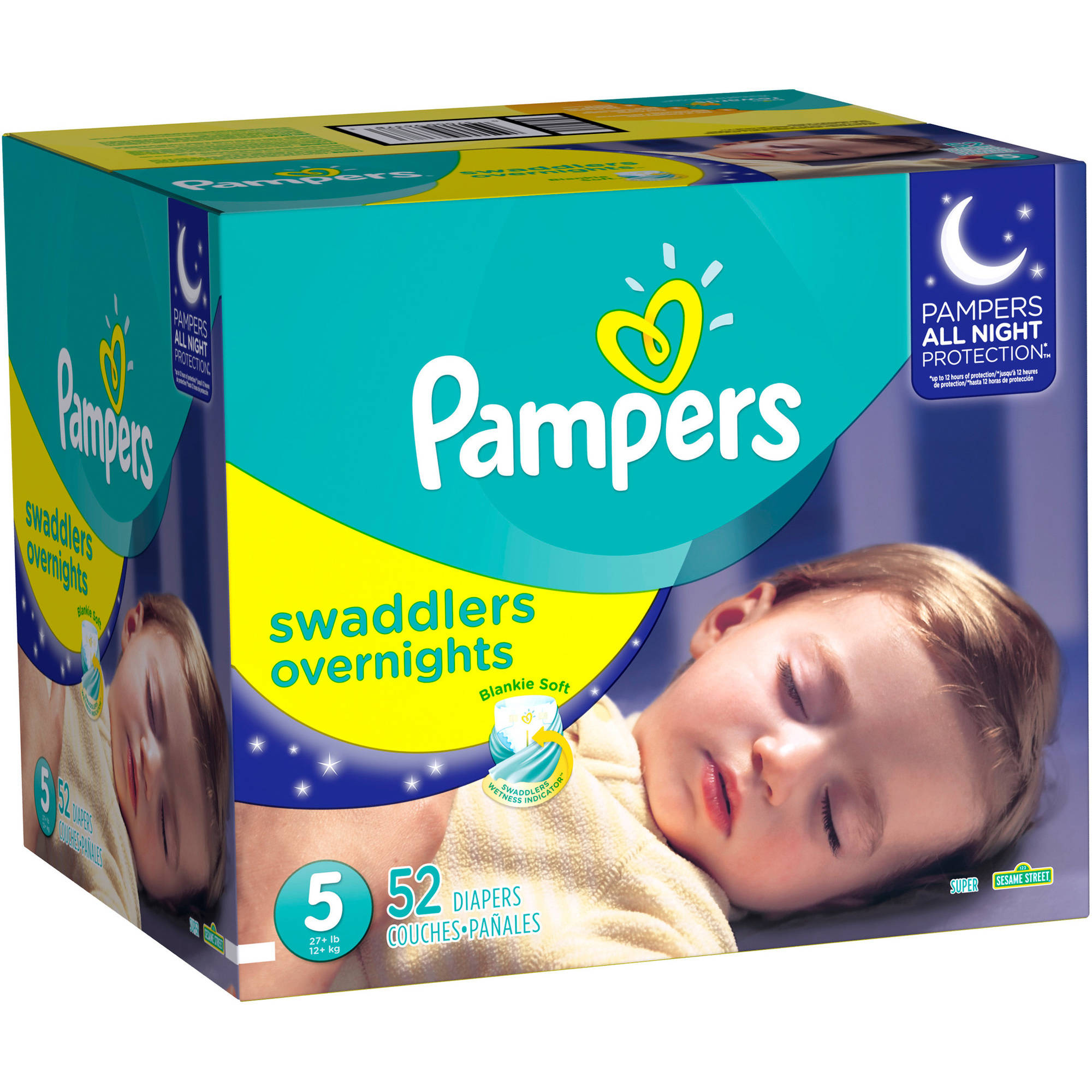 Pampers Swaddlers Overnights Diapers (Choose Size and Count)
