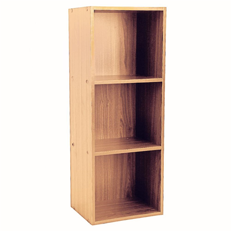 3 Layers Bookcase Book Display Flat Rack Shelf Storage Box Storage Shelf - Sturdy Cube Unit Organizer for Living/ Dining Room/ Bedroom/ Study/ Office - Easy Assembly - Color Optional