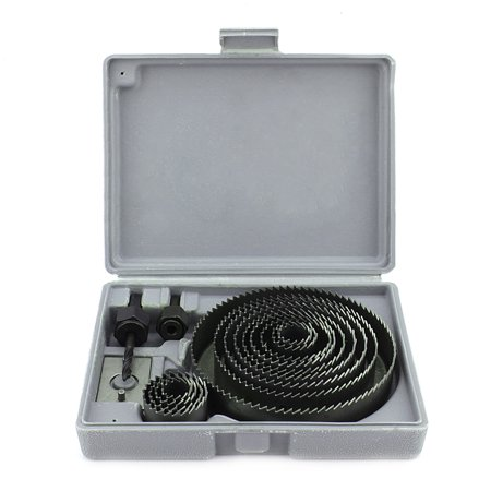 EECOO 16pcs Hole Saw Kit Metal Circular Cutter With Mandrels And Install Plate, 3/4