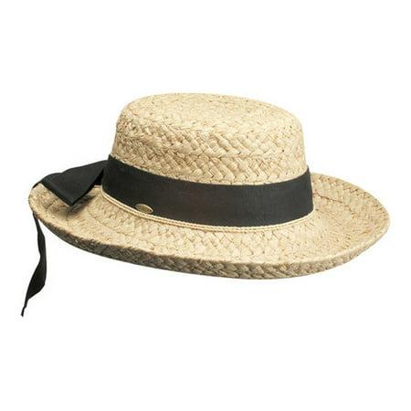 Scala Paper Braid - Women's Scala L521OS Straw Hat with Herringbone Bow