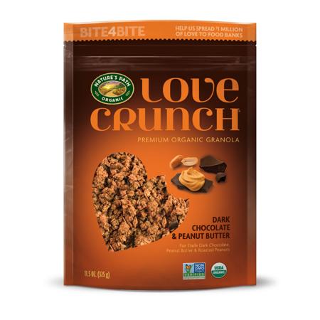 Chocolate Organic Granola (Love Crunch Organic Granola Dark Chocolate & Peanut Butter 11.5 Oz)