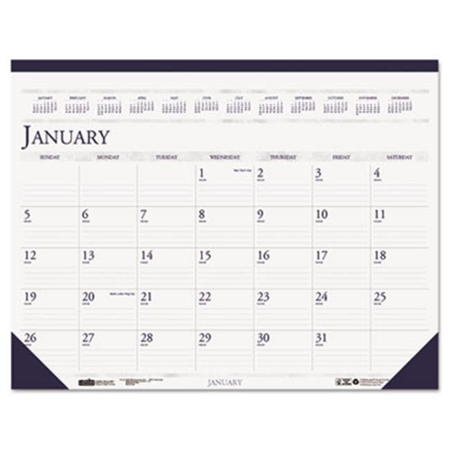 House Of Doolittle 1506 2016 Two-Color Monthly Desk Pad Calendar