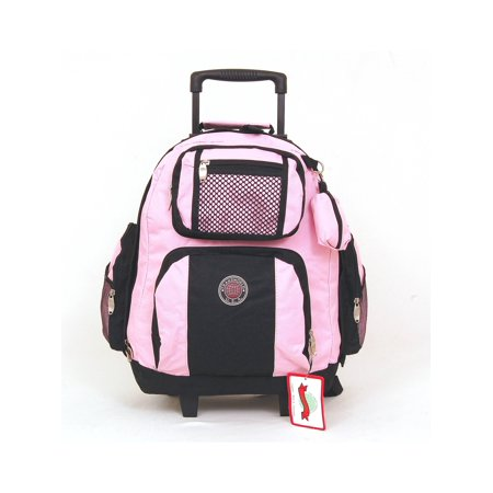 Tw 18 Wheeled Backpack Roomy Rolling Book Bag W Handle Carry On Luggage Back Pack
