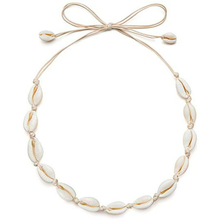 Coolmade Sea Shell Necklace Choker for Women Summer Hawaiian Style Natural Shell Necklace