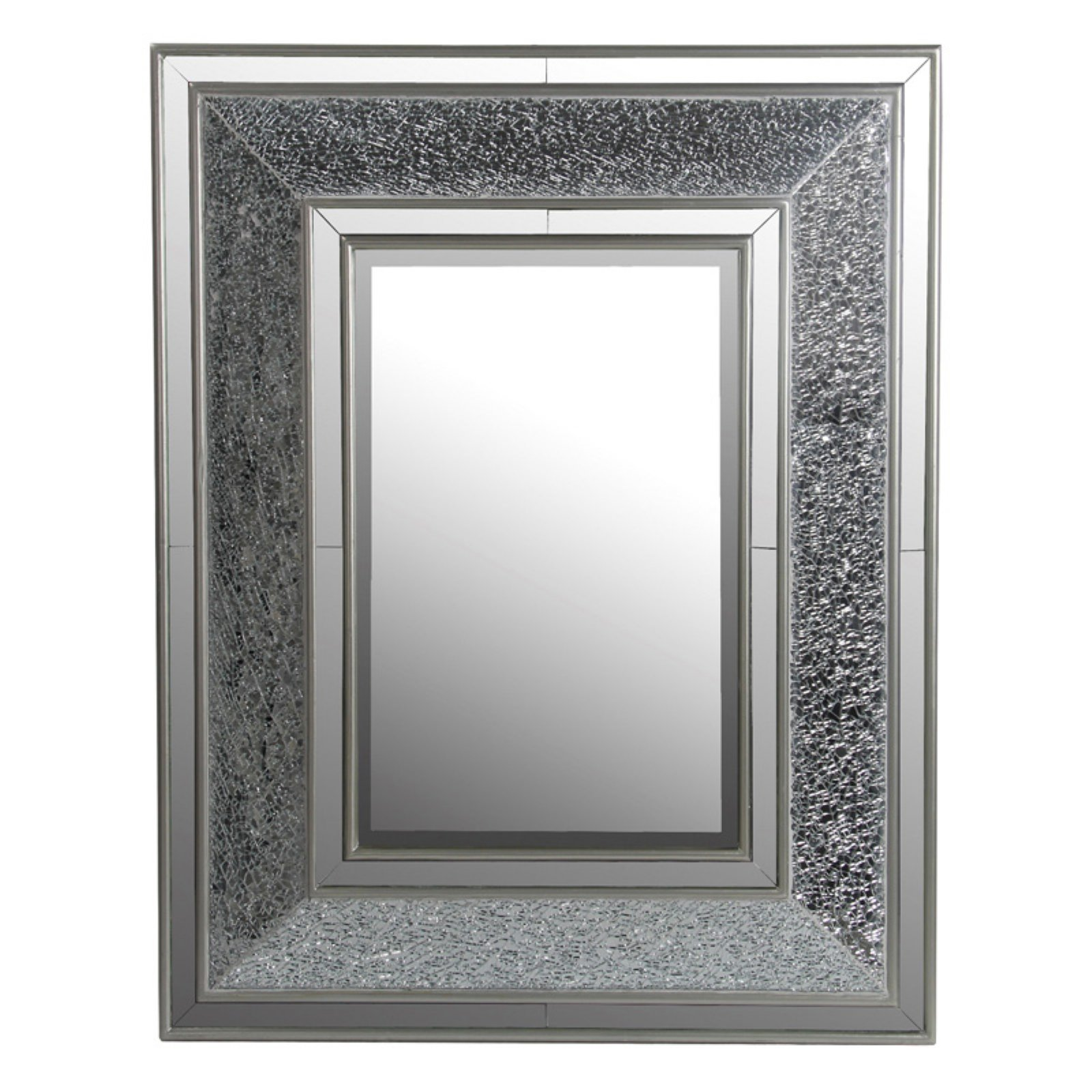 Privilege International Rectangle Mosaic Wall Mirror - 30W x 38H in.