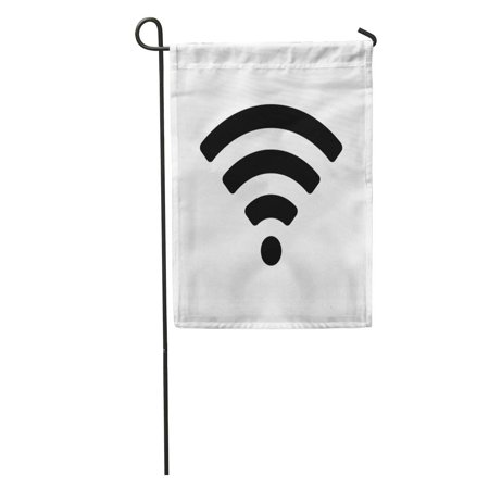 LADDKE Symbol WiFi Wireless Internet Access Remote Soundwave Podcast Hotspot Garden Flag Decorative Flag House Banner 28x40