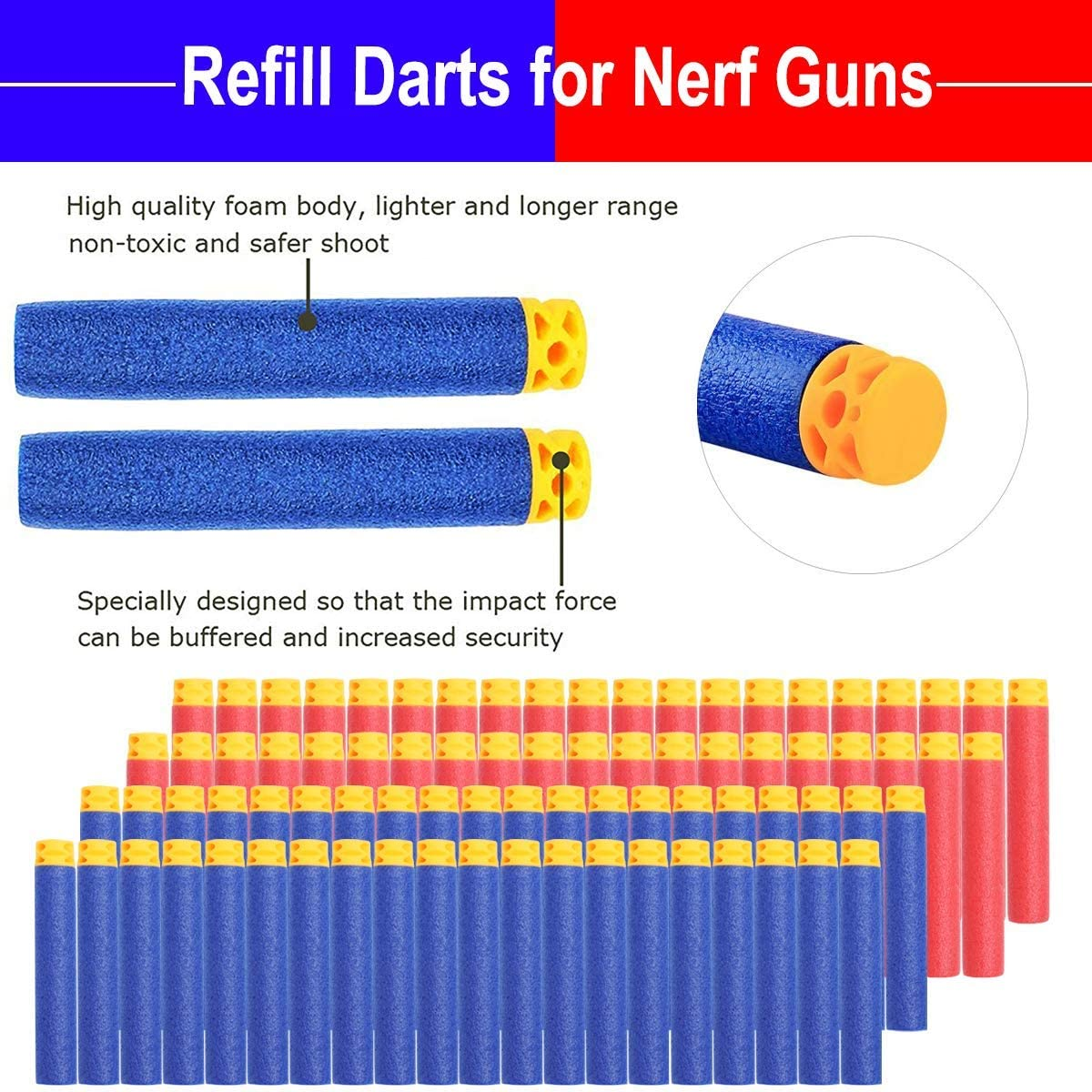 DecorX Compatible with Nerf Guns Party Supplies   30 Sets Blaster Guns  Birthday Party Favors Accessories Include Face Mask, Kids Form Darts and ...