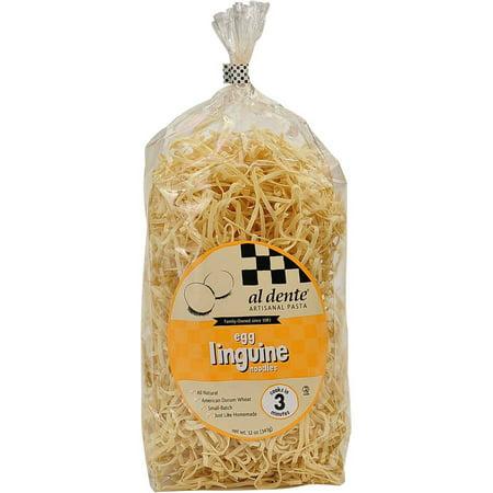 Image of Al Dente Egg Linguine Pasta, 12 oz (Pack of 6)