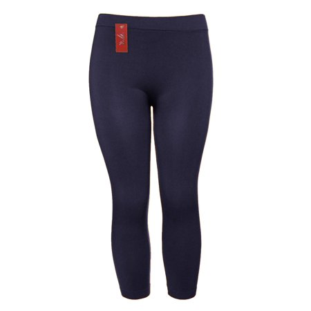 c8edb065836 Gravity Threads - Nylon Spandex Seamless Womens Capri Leggings - Walmart.com