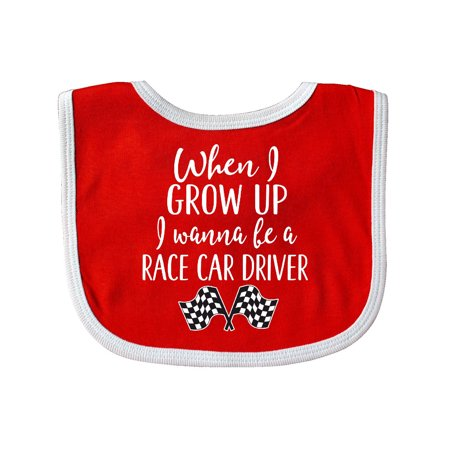 Future Race Car Driver Childs Baby Bib (Racing Bits)