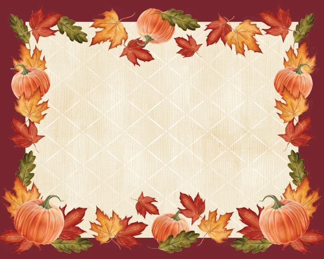 Access Pumpkins & Leaves Border Paper Placemat, 12 Ct by Supplier Generic