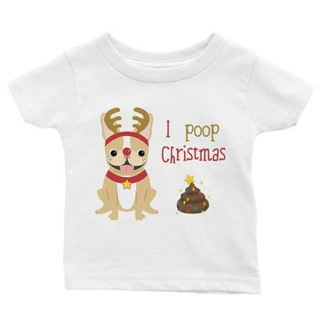 Black Halloween Burger Poop (Frenchie Christmas Poop Cute Baby Shirt X-mas)