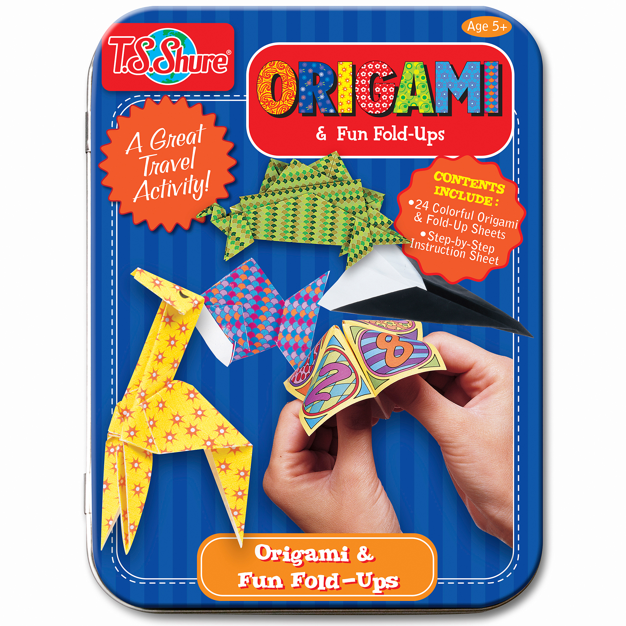T.S. Shure Origami and Fun Fold-Ups Activity Mini Tin