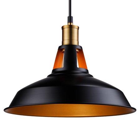 LEONLITE Industrial Metal Pendant Light, LED Ceiling Lights for Kitchen, Living Room, Counter, Dining Room, Restaurant ()