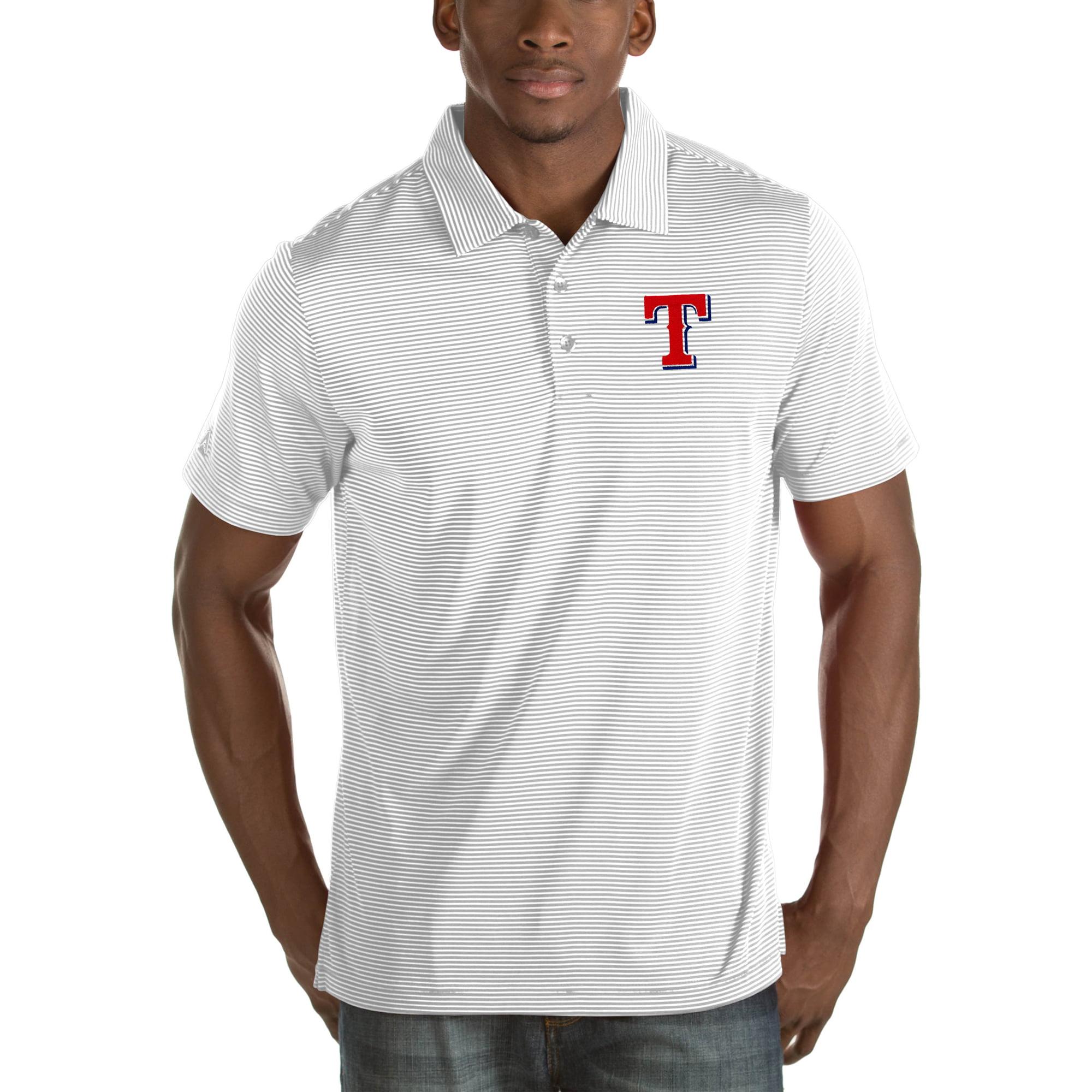 Texas Rangers Antigua Quest Big & Tall Polo - White