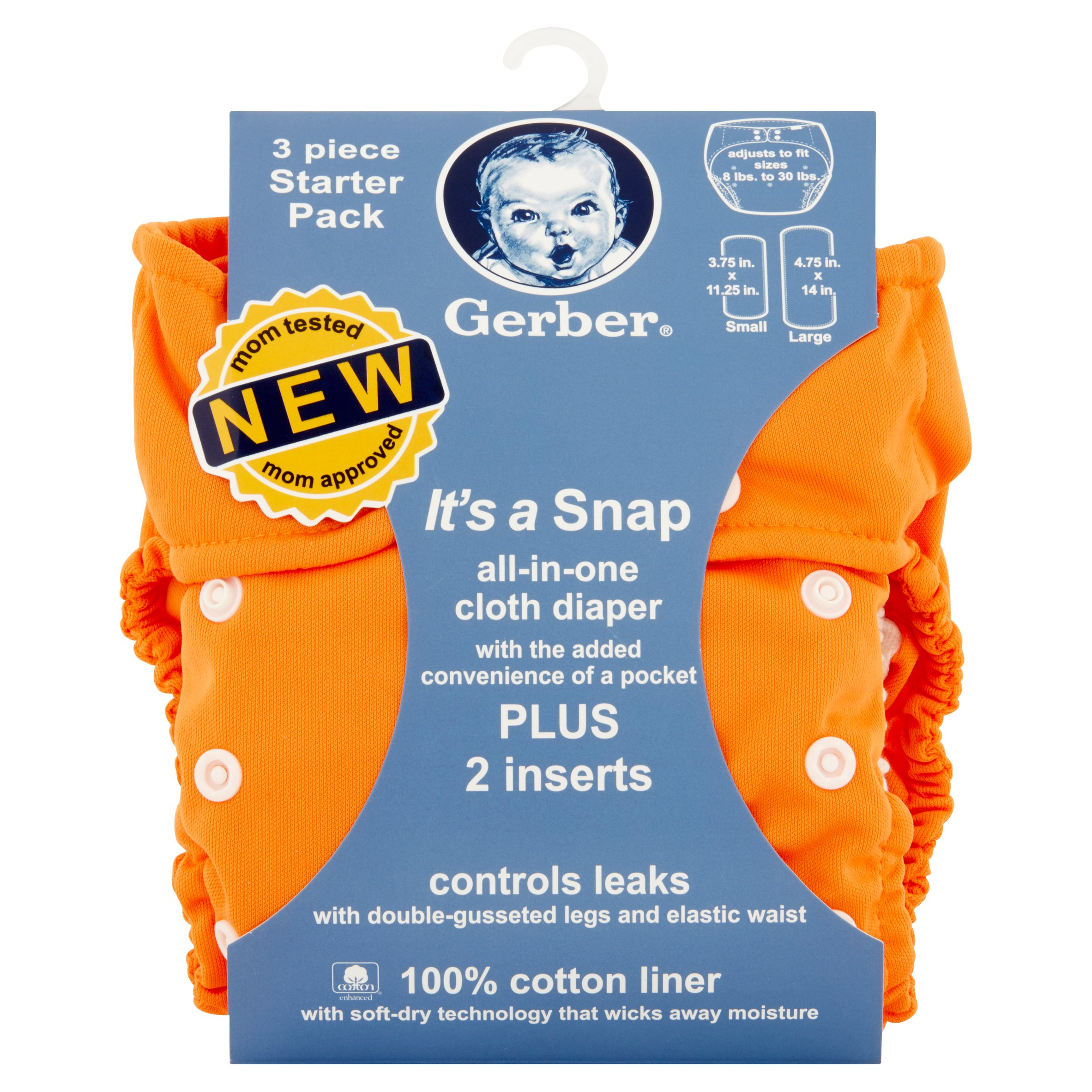 Gerber All-in-One Cloth Diaper Starter Pack, 3 count