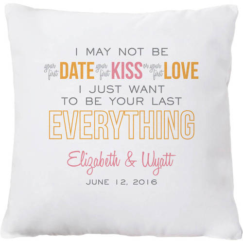 Personalized Your Last Everything Throw Pillow, Available in 2 Colors