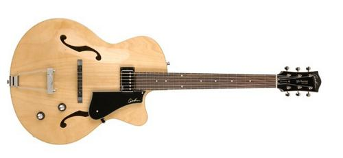 Godin 5th Avenue Composer GT Archtop Hollow Body Electric Guitar (Natural, New) by