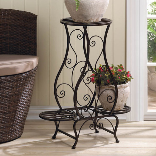 Zingz and Thingz Tuscany Plant Stand in Black by Zingz & Thingz