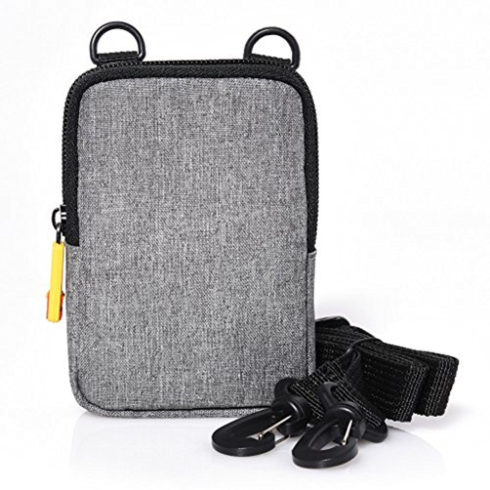 Kodak Soft Camera Case For The Kodak Printomatic, Mini Shot Instant Camera - Grey (Compatible with Kodak Mini2 Printer)