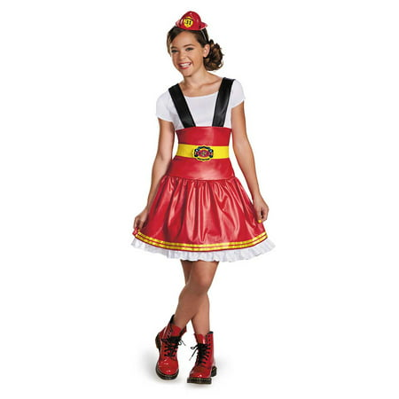 Homemade Girl Firefighter Halloween Costumes (Child Female Fire Fighter Costume by Disguise)