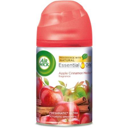 Air Wick Freshmatic Automatic Spray Air Freshener, Apple Cinnamon Medley Scent, 1 Refill 6.17 oz