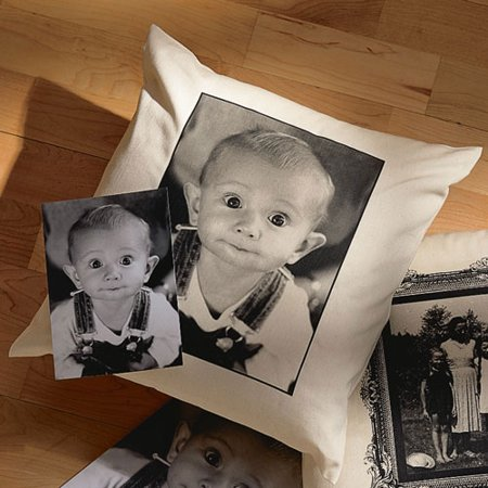 Personalized Photo Accent Pillow With Plain Border